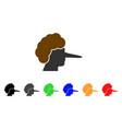 lier icon vector image vector image