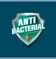 logo antibacterial gel antiseptic medical cross vector image vector image