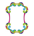 mexican decorative frame with ornamental swirls vector image
