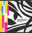modern abstract art geometric background in flat vector image vector image