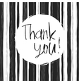 monochrome thank you card vector image vector image