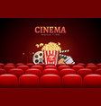Movie cinema premiere poster design template vector image vector image