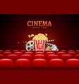movie cinema premiere poster design template vector image vector image