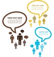 newtork conversation tree group of people vector image vector image