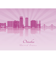 Omaha V2 skyline in purple radiant orchid vector image vector image