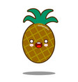 pineapple apple fruit cartoon character icon vector image