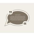 Quotation mark speech bubble vector image vector image