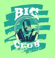 Retro karaoke music club audio record studio