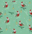 robins on the pine seamless vector image