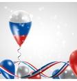 Russian flag on balloon vector image vector image
