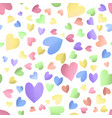 seamless pattern background with cute color hearts vector image
