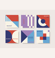 set abstract cards with geometric elements vector image vector image