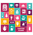 set icons on a coffee theme vector image vector image