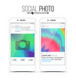 social network photo frame modern vector image vector image
