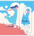 spring sale banner sale poster sale flyer 75 vector image vector image