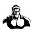 superhero dark portrait line art vector image vector image