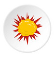 terrible explosion icon circle vector image vector image