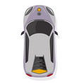 the sport car top view in flat style isolated on vector image vector image
