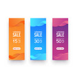 three vertical elongated banners for advertising vector image