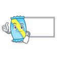 thumbs up with board candy character cartoon style vector image