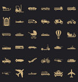 transport with driver icons set simple style vector image vector image