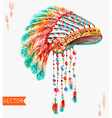 Tribal indian hat watercolor background vector image