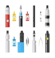 Vaping flat icons Vaporizer cigarette electronic vector image