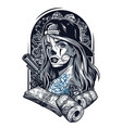 vintage chicano tattoo concept vector image vector image