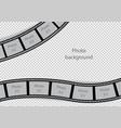 vintage photo frames swirl film strip template vector image