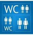 WC icon set vector image