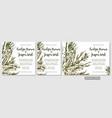 wedding invite invitation menu card floral vector image vector image