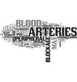 what is peripheral vascular disease text word vector image vector image