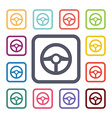 wheel flat icons set vector image
