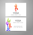 yoga logo card vector image