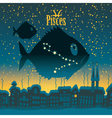 Pisces sign vector image