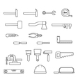 hand tools set vector image