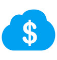 financial cloud flat icon vector image
