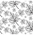 abstract monochrome natural seamless pattern vector image vector image