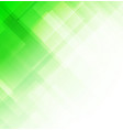 abstract square shapes green background vector image vector image