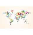 abstract triangle world map concept vector image