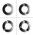 arrow refresh reload rotation loop icon vector image vector image