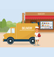 baking delivery concept flat vector image