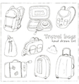 black contours different travel bags and vector image vector image