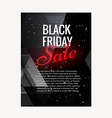 black friday sale brochure design vector image vector image