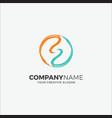 business logo circle initials s vector image