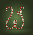 Candy cane abc W vector image vector image