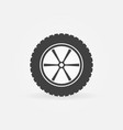 car wheel with tyre icon or sign vector image