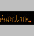 caracas light streak skyline vector image vector image