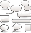 cartoon speech balloons vector image