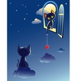 cats dream vector image
